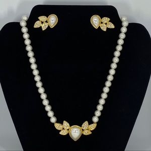 Fashion Jewelry set Pearl Necklace with earrings